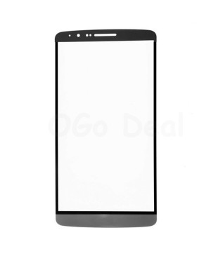 For LG G3 Front Glass Outer Lens Replacement, Black
