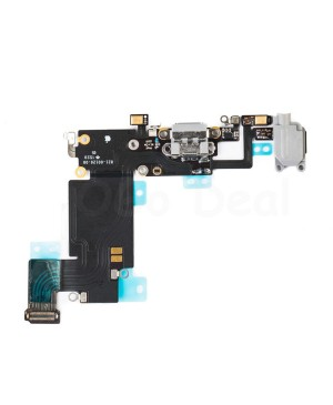 Apple iPhone 6S Plus Charging Dock Connector and Headphone Jack Flex Cable Replacement, High Quality - Dark Gray