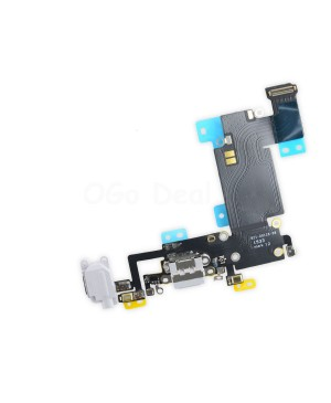 Apple iPhone 6S Plus Charging Dock Connector and Headphone Jack Flex Cable Replacement, High Quality -  Light Gray