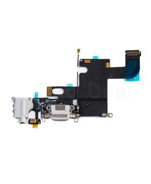 Apple iPhone 6 Charging Dock Connector and Headphone Jack Flex Cable Replacement, Ori New, Light Gray