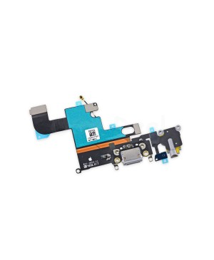 Apple iPhone 6 Charging Dock Connector and Headphone Jack Flex Cable Replacement, High Quality, Dark Gray