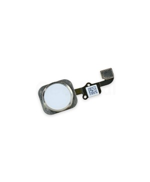 Apple iPhone 6 and 6 Plus Home Button With Home Flex Cable Assembly, High Quality - Silver