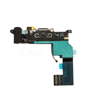 Apple iPhone SE Charging Dock Connector and Headphone Jack Flex Cable Replacement, Ori New, Black