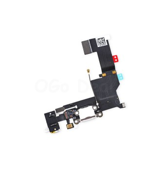 For Apple iPhone 5S Charging Dock Connector and Headphone Jack Flex Cable Replacement, High Quality, White