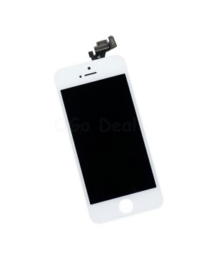 Apple iPhone 5 Digitizer and LCD Screen Assembly with Frame Replacement - White, (Aftermarket LCD TM)