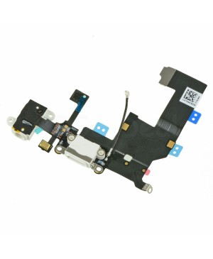 Apple iPhone 5 Charging Dock Connector and Headphone Jack Flex Cable Replacement, High Quality, White