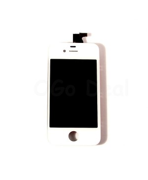 Apple iPhone 4 CDMA Digitizer and LCD Screen Assembly with Frame Replacement - White(Aftermarket LCD)
