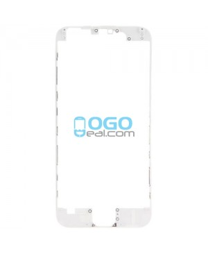 For Apple iPhone 7 Front Frame with Glue, Premium - White