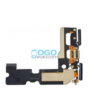 For Apple iPhone 7 Plus Charging Port Dock Connector Flex Cable Replacement, Premium, Black