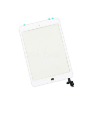 iPad Mini 1/2 Glass and Digitizer Assembly with IC chip, High Quality - White
