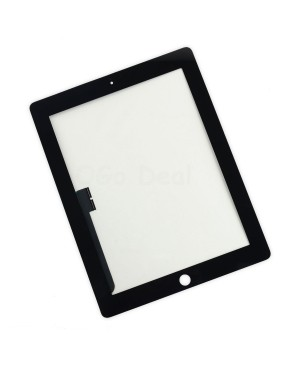 iPad 3/4 Front Glass/ Digitizer Touch Panel, High Quality - Black