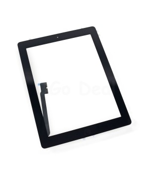 iPad 4 Glass and Digitizer with Home Button Flex Assembly,High Quality - Black
