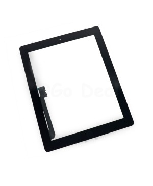 iPad 3 Glass and Digitizer with Home Button Flex Assembly,High Quality - Black