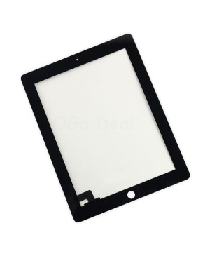 iPad 2 Front Glass / Digitizer Touch Panel, Original - Black