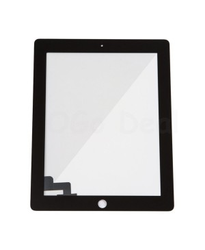 iPad 2 Front Glass/ Digitizer Touch Panel, High Quality - Black