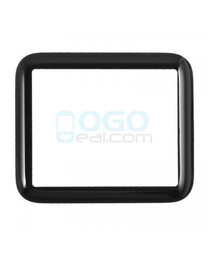 Front Outer Screen Glass Lens Replacement for Apple Watch(Series 1) 42mm - Black