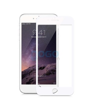 iPhone 6 6S Full Coverage 9H 3D Curved Tempered Glass Screen Protector Film White With retail Packing Box