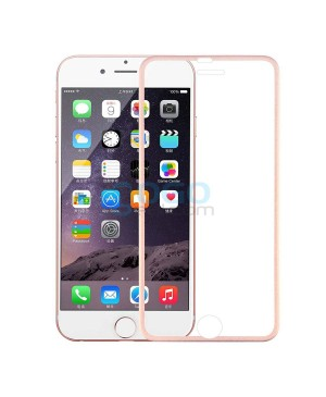 iPhone 7 Plus Titanium Alloy Full Cover Tempered Glass Screen Protector Film Rose Gold With retail Packing Box