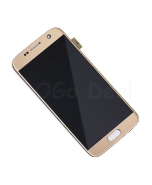 LCD and Digitizer Assembly Replacement for Samsung Galaxy S7  - Gold