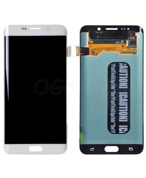 LCD and Digitizer Assembly Replacement for Samsung Galaxy S6 Edge Plus  - White