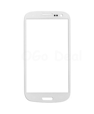 Front Glass Lens Replacement for Samsung Galaxy S3 III White