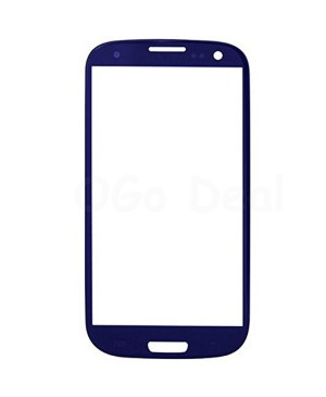 Front Glass Lens Replacement for Samsung Galaxy S3 III Blue