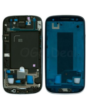For Samsung Galaxy S3 III i535 R530 Faceplate Front Bezel Middle Plate Frame - Blue