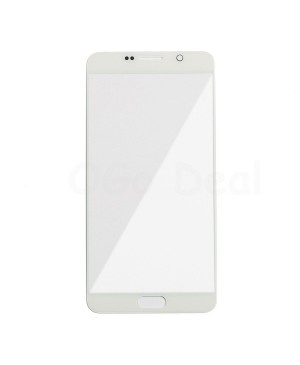 Front Glass Lens Replacement for Samsung Galaxy Note 5 White