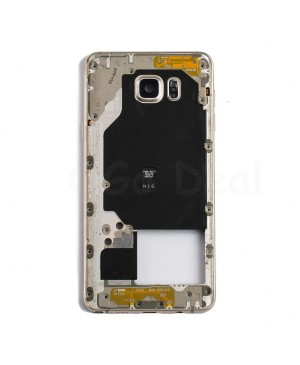 Middle Plate Frame Assembly for Samsung Galaxy Note 5  - Gold