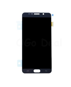 LCD Screen and Digitizer Assembly Replacement for Samsung Galaxy Note 5 - Black Sapphire