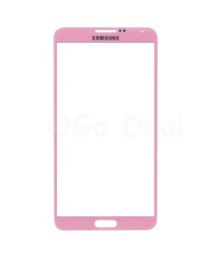 Oem Original Front Glass Lens Replacement for Samsung Galaxy Note 3 Pink