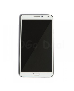 LCD Screen and Digitizer Assembly Replacement With Frame for Samsung Galaxy Note 3 N9005 - White