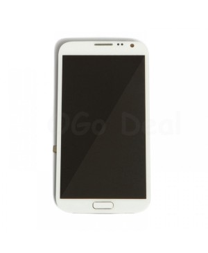 LCD Screen and Digitizer Assembly Replacement With Frame for Samsung Galaxy Note 2 N7105 / I317 / T889 - White