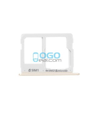SIM Card Tray and Micro SD Card Tray Replacement for Samsung Galaxy A7 (2016) A7100/A3100/A5100- Gold