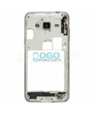 Middle Frame Bezel  - White for Samsung Galaxy J3 (2016)
