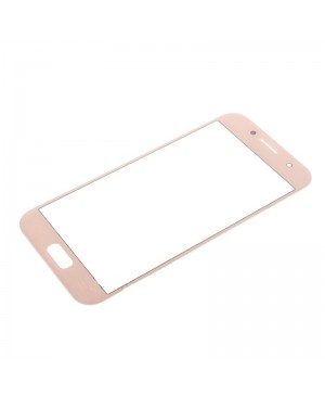 Front Outer Screen Glass Lens Replacement for Samsung Galaxy A3 2017 - Pink