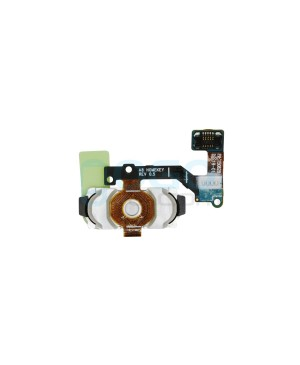 Back Home Button Fingerprint Sensor Flex Cable Replacement for Samsung Galaxy A8 White