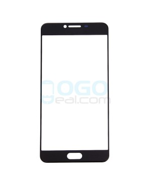 Front Outer Screen Glass Lens Replacement for Samsung Galaxy C7 - Black