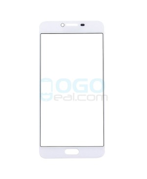 Front Outer Screen Glass Lens Replacement for Samsung Galaxy C7 - White