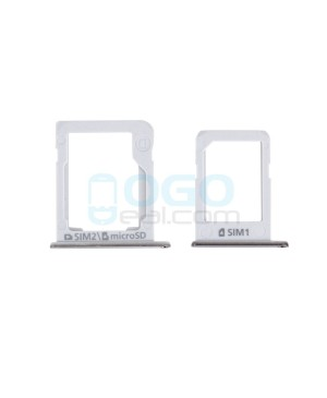 SIM & SD Card Tray Replacement for Samsung Galaxy E5 Silver