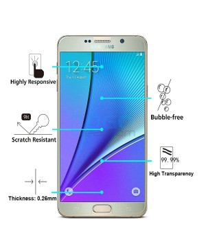 10pcs Samsung Galaxy Note 5 Tempered Glass Screen Protector Film Guard 9H Without retail Packing Box