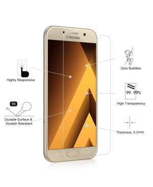 Samsung Galaxy A5(2017) A520 Tempered Glass Screen Protector Film Guard 9H With retail Packing Box