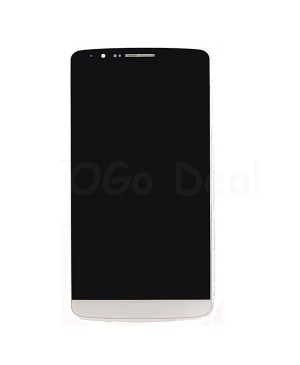 LG G3 LCD Screen and Digitizer Assembly With Frame  D855 D851 D850 LS990  - White