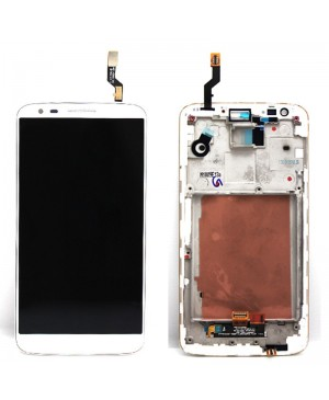 LCD & Digitizer Touch Screen Assembly With Frame for LG G2 D801 T-Mobile - White