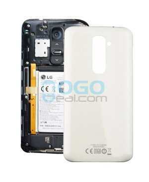 OEM Battery Door/Back Cover Replacement for LG G2 D802 - White
