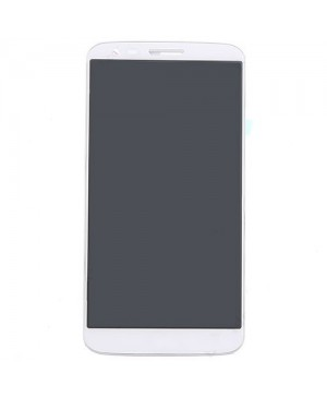 LCD & Digitizer Touch Screen Assembly With Frame replacement for lg G2 LS980 - White