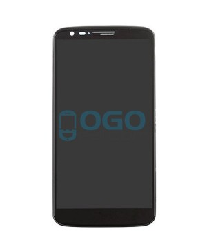 LCD & Digitizer Touch Screen Assembly With Frame for lg G2 VS980 - Black