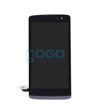 LCD & Digitizer Touch Screen Assembly With Frame replacement for lg Leon - Black