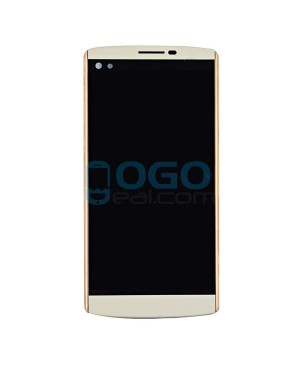 LCD & Digitizer Touch Screen Assembly With Frame for lg V10 H900 H901 VS990 - White