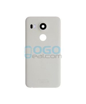 Battery Door/Back Cover Replacement for Google Nexus 5X - White